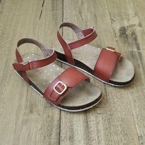Cat & Jack girls Size 12 leather sandals